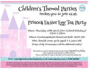 Princess Easter Egg Tea Party FREE tickets