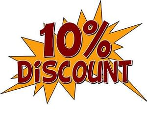 Just Quote Recommend a Friend and who recommended you while booking and we will give you 10% off your next party