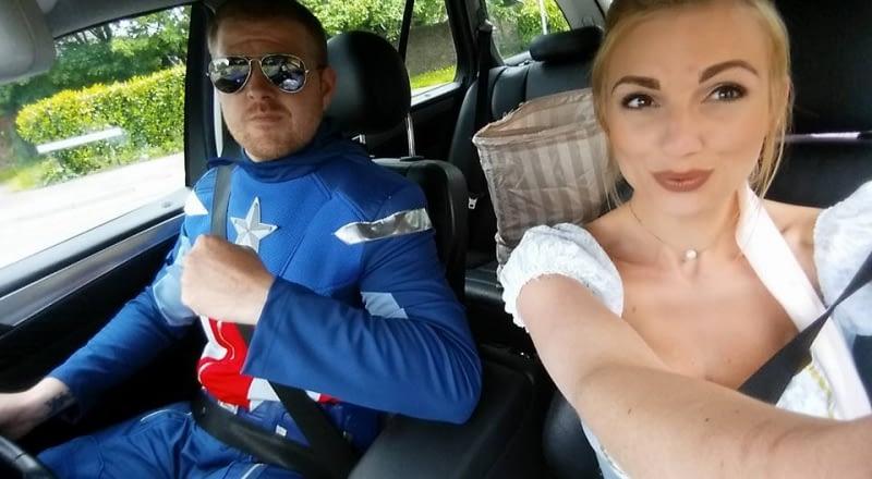 Captain America & Cinderella Selfie