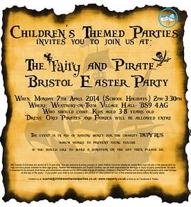FREE Bristol Fairy & Pirate Party for children