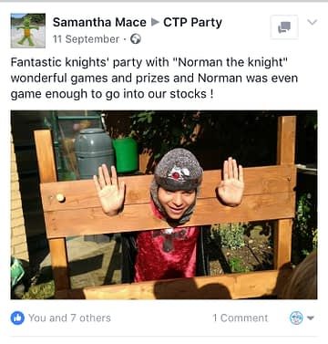 Knight Party Great Entertainer Feedback
